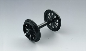 LGB spare parts-LGB 67301 Plastic Spoke Wheel Set 2 pieces Track G No2