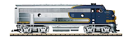 Lgb 20585 Santa Fe F7a Diesel Locomotive Bluebonnet